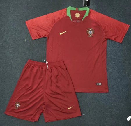 2018 Russia World Cup Adult Portugal Red Home Soccer Kits Men Soccer Uniform Customization Name Number Football Jersey