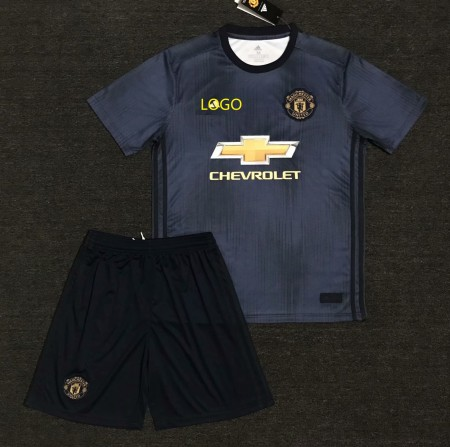 18/19 Cheap Adult Manchester United Away  Soccer Jersey Uniform Men Football Jersey Kits