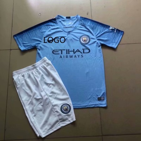 2018/19 Manchester City Home Jersey Uniforms Blue Adult Football Kits discount soccer jerseys