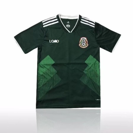 Thai Quality  Men Mexico Home Green Fan Version Soccer Jersey Adult Football Shirt