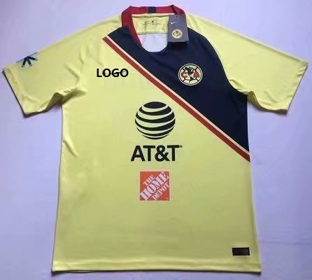 2018/19 Mexico  América Home Soccer Jersey Soccer  Jersey Uniform Men Football Shirt XXL Custom Name And Number