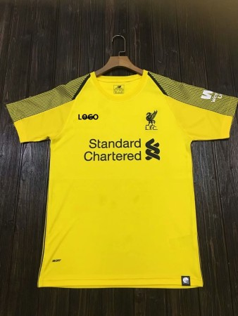 2018/19 Men liverpool yellow Soccer Jersey -Thai Quality Cheap Adult Football Shirt