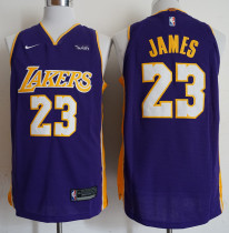 Laker  Lebron 23 Purple Basketball Jersey