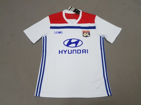 18-19 Lyon Home white Soccer Jersey -Thai Quality