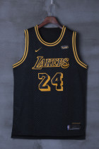 LAKERS BRYANT 24 BLACK BASKETBALL JERSEY