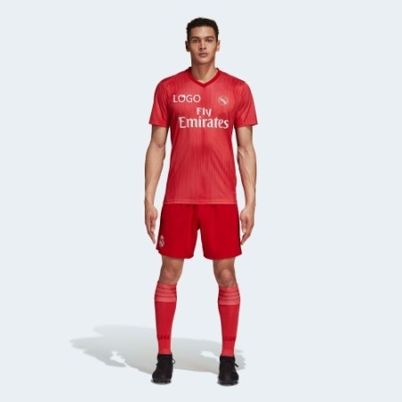 2018/19 AAA Quality Men real madrid away red soccer jersey uniform