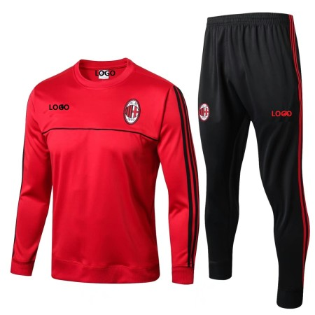 2018/19 Men AC Milan Red Tracksuits Adult Football Track Suit Jacket