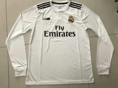 2018/19 Men Real Madrid Long Sleeve Soccer Jersey Adult Football Shirt THAI QUALITY