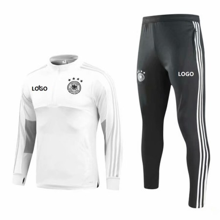 2018/19 Men Germany White Soccer Tracksuit Adult Football Training Suit
