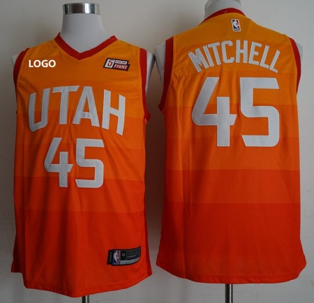 Men Mitchell 45 Basketball Jersey Yellow