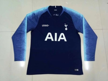 2018/19 Thai Quality Adult Tottenham Away Blue Soccer Jersey Men Football Shirt