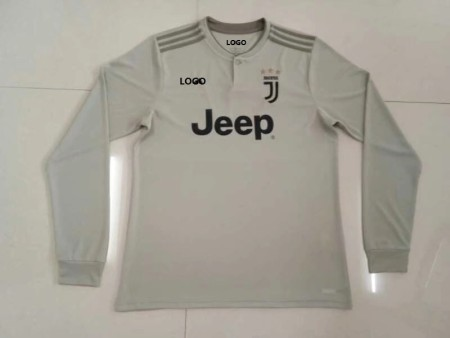 2018/19 Thai Quality Men Grey Juventus Away Soccer jersey football shirt