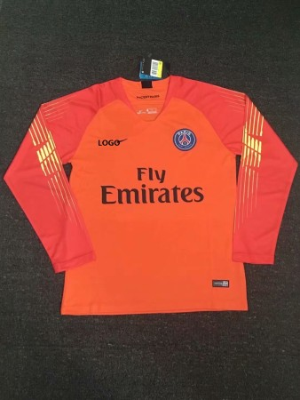 2018/19 Thai Quality PSG  Long Sleeve Yellow Goalkeeper Soccer Jersey Men Football Shirt