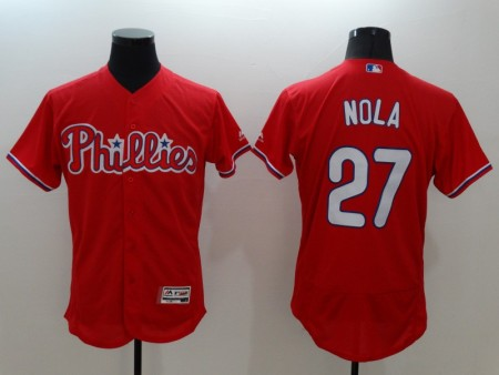 philadelphia philles jersey red 27 nola