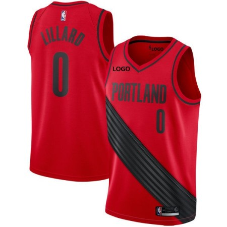 #0 Lillard Portland Swingman jersey red Basketball Jersey Adult Shirt