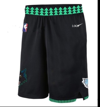 Genuine Timberwolves Ross Trousers Downs Basketball Trousers Butler Training Shorts Retro Black