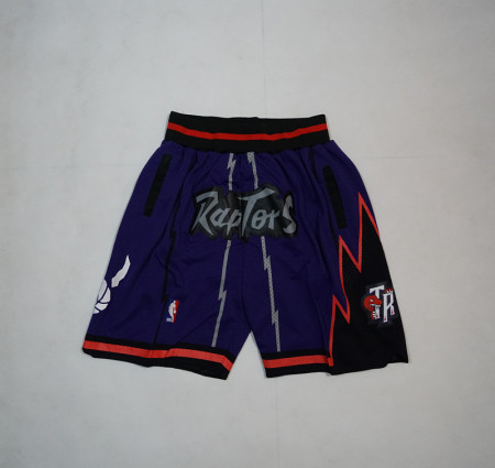 Adult New Toronto RaptorsThe Red shorts Purple Basketball Short