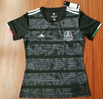 2019 -20 Woman Mexico Black Soccer Jersey Football Shirt