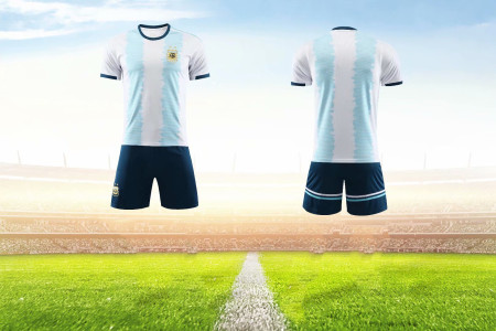 2019/20 AAA Quality Adult  Argentina home Soccer uniforms