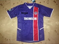 02-03 Thai Quality Home Blue Retro Soccer Jersey
