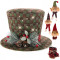 sdsaena Top Hat Tree Topper add Ornament Sets Traditional and Countryside Multicolor and Knitted Fabric red Green 15L x 15W x 8.5 H (White)