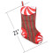 sdsaena Christmas Stocking red glod Snowflake Traditional and Countryside Multicolor Knitted Fabric 21  (Snowflake)