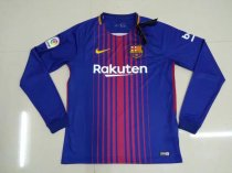 Barcelona 17-18 Home Long Sleeve Soccer Jersey LS Football Shirt camiseta de Futbol AAA Thailand Quality