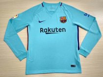 Barcelona 17-18 Away Long Sleeve Soccer Jersey LS Football Shirt camiseta de Futbol AAA Thailand Quality