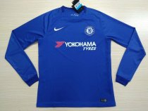Chelsea 17-18 Home Long Sleeve Soccer Jersey LS Football Shirt Discount Cheap Shirts AAA Thailand Quality