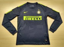 Inter Milan 17-18 Third Away Champions Long Sleeve LS Soccer Jersey Maglia da calcio AAA Thailand Quality Shirt