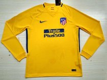 Atletico Madrid 17-18 Away Long Sleeve Soccer Jersey LS Football Shirt camiseta de Futbol AAA Thailand Quality