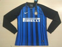 Inter Milan 17-18 Home Long Sleeve LS Soccer Jersey Maglia da calcio AAA Thailand Quality Shirt