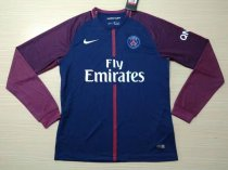 PSG 2017-2018 Home Long Sleeve LS Soccer Jersey Maillot de football Cheap Shirt aaa thai quality Discount wholesale online Best Quality