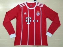 Bayern Munich 2017-2018 Home Long Sleeve LS Soccer Jersey Fußball Trikot AAA Thai Quality Cheap Discount Football Shirts Replica wholesale online free shipping