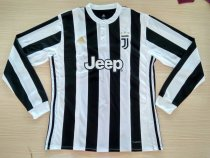 Juventus 17-18 Home Long Sleeve LS Soccer Jersey Maglia da calcio AAA Thailand Quality Shirt free shipping