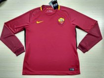 AS Roma 17-18 Home Long Sleeve LS Soccer Jersey Maglia da calcio AAA Thailand Quality Shirt free shipping