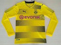 Dortmund 2017-2018 Home Long Sleeve LS Soccer Jersey Fußball Trikot AAA Thailand Quality Cheap Discount Football Shirts Wholesale Online Free Shipping