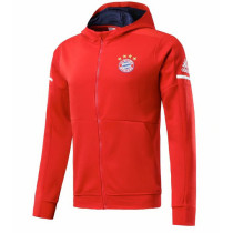 Bayern Munich 17-18 Hoodies Red Color Jacket With Cap AAA Wuality Discount Coat Wholesale Online (2)