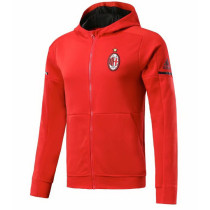 AC Milan 17-18 Hoodies Red Color Jacket With Cap AAA Wuality Discount Coat Wholesale Online (2)