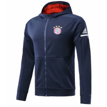 Bayern Munich 17-18 Hoodies Dark Blue Color Jacket With Cap AAA Wuality Discount Coat Wholesale Online (2)