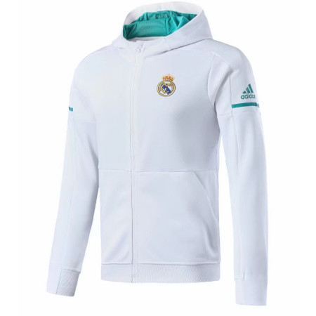 Real Madrid 17-18 Hoodies White Color Jacket With Cap AAA Wuality Discount Coat Wholesale Online