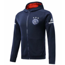 Ajax 17-18 Hoodies Dark Blue Color Jacket With Cap AAA Wuality Discount Coat Wholesale Online (2)