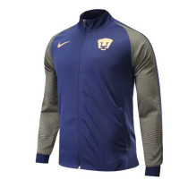 Pumas UNAM 17-18 New N98 Dark Blue Color Jacket AAA Thai Quality top Coat