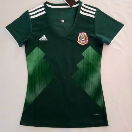 Mexico 2018 World Cup Home Women Soccer Jersey AAA Thailand Quality Discount Female Football Shirt wholesale online best thai quality shirts