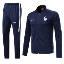 France 2018 World Cup Jacket With Pant Dark Blue Training Suit Full Set aaa thai quality cheap discount coat wholesale online free shipping