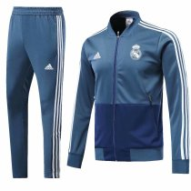 Real Madrid 2018-2019 Blue Jacket With Pants Full Set Training Suit Tracksuit AAA Thai Quality Discount sports wear