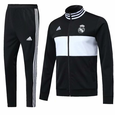 Real Madrid 2018-2019 Black Jacket With Pants Full Set Training Suit Tracksuit AAA Thai Quality Discount sports wear