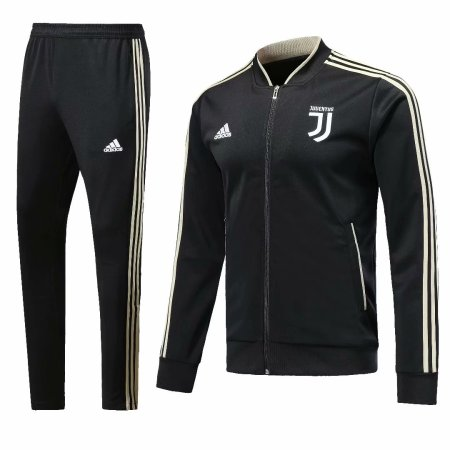 Juventus 2018-2019 Black Jacket With Pants Full Set Training Suit Tracksuit AAA Thai Quality Discount sports wear