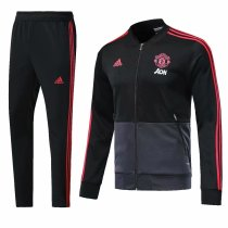 Manchester United 2018-2019 Black Jacket With Pants Full Set Training Suit Tracksuit AAA Thai Quality Discount sports wear