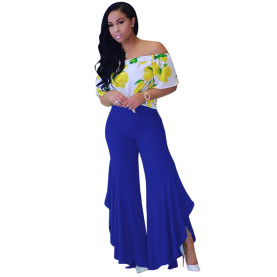 Sexy Ladies Flouncing Long Pant With Big Flare Hem